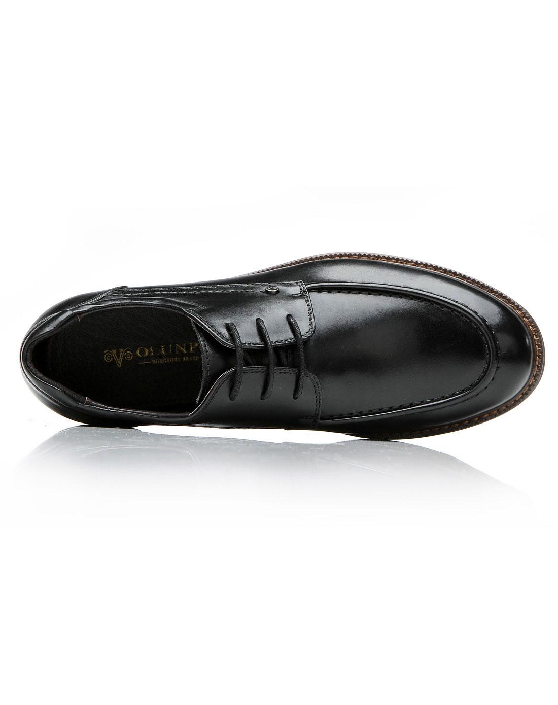 男士黑色商务休闲皮鞋