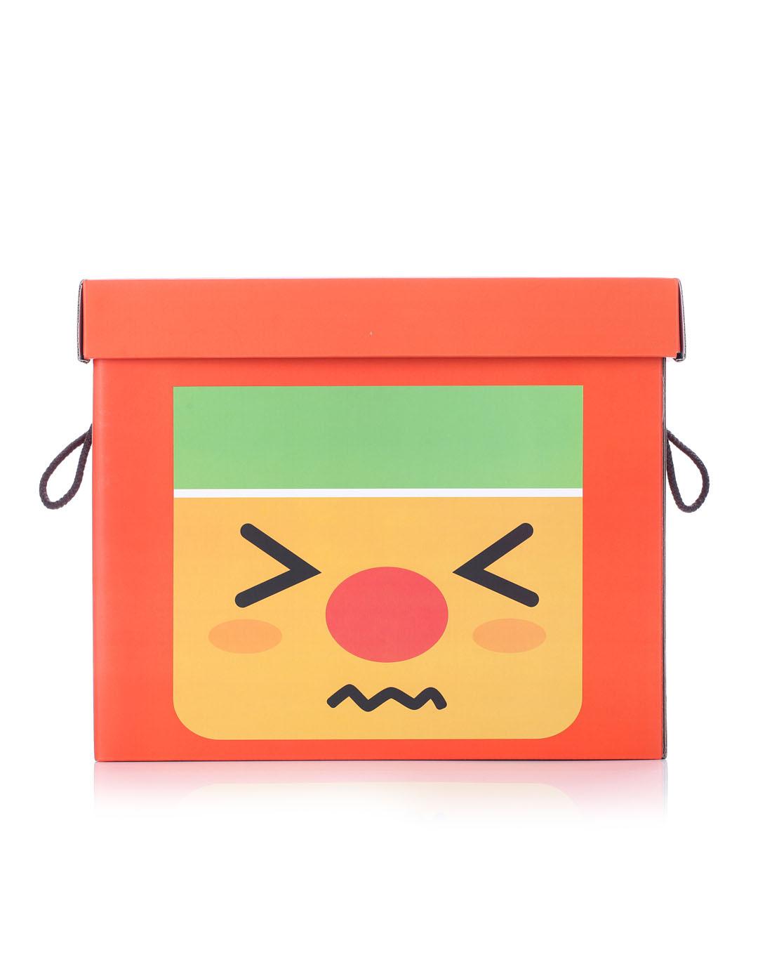 可爱表情系列收纳箱-红色