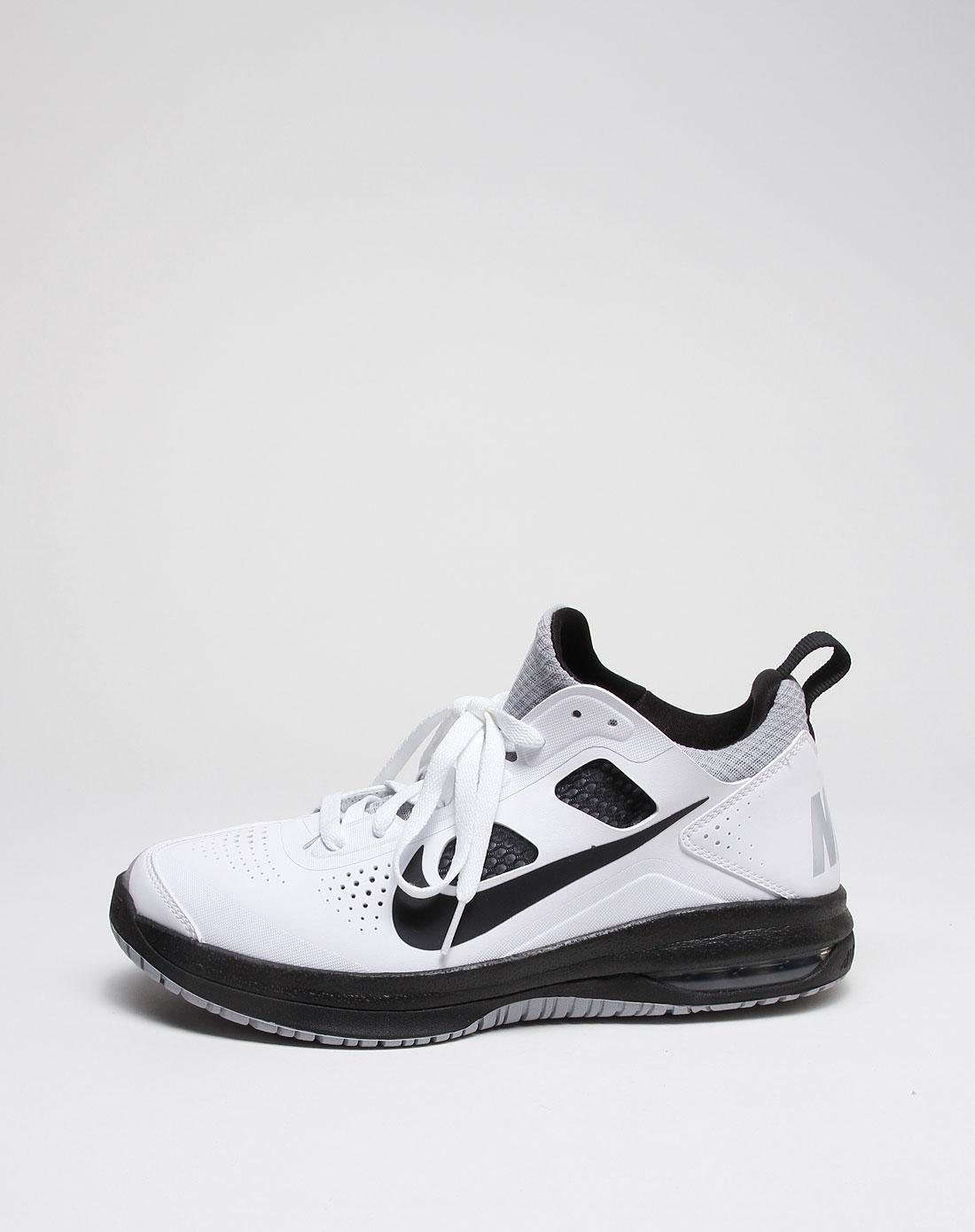 耐克nike 白底黑色冲孔air max dominate篮球鞋