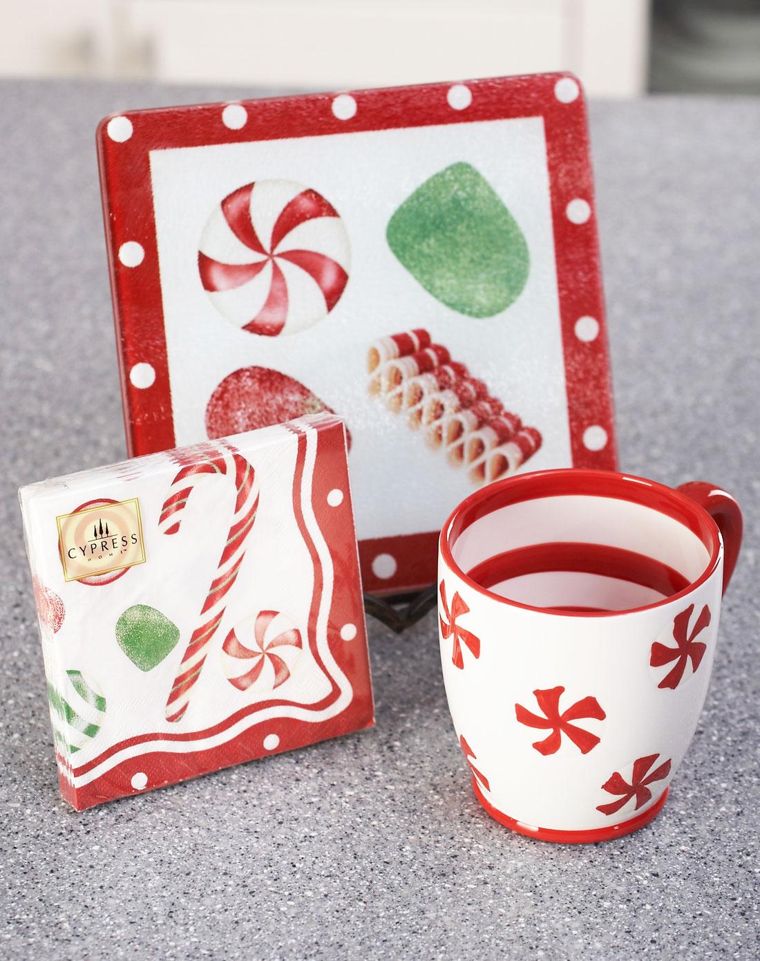 evergreen家居用品专场手绘马克杯+茶点板+印花纸巾