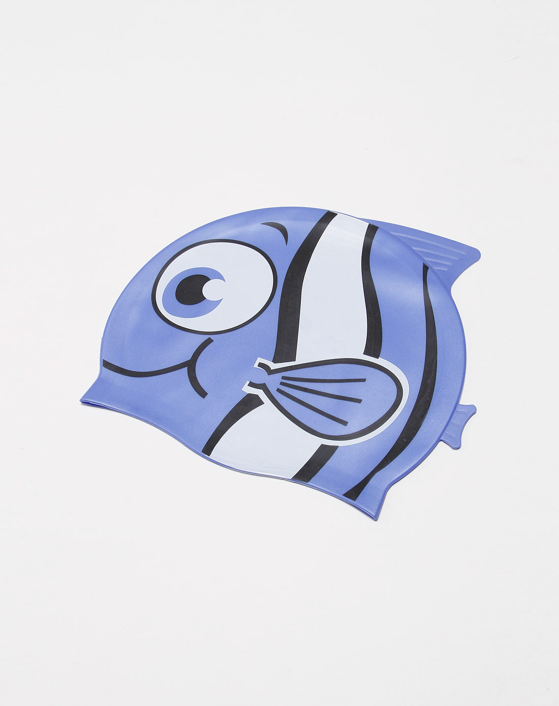 童款蓝色动物图案泳帽
