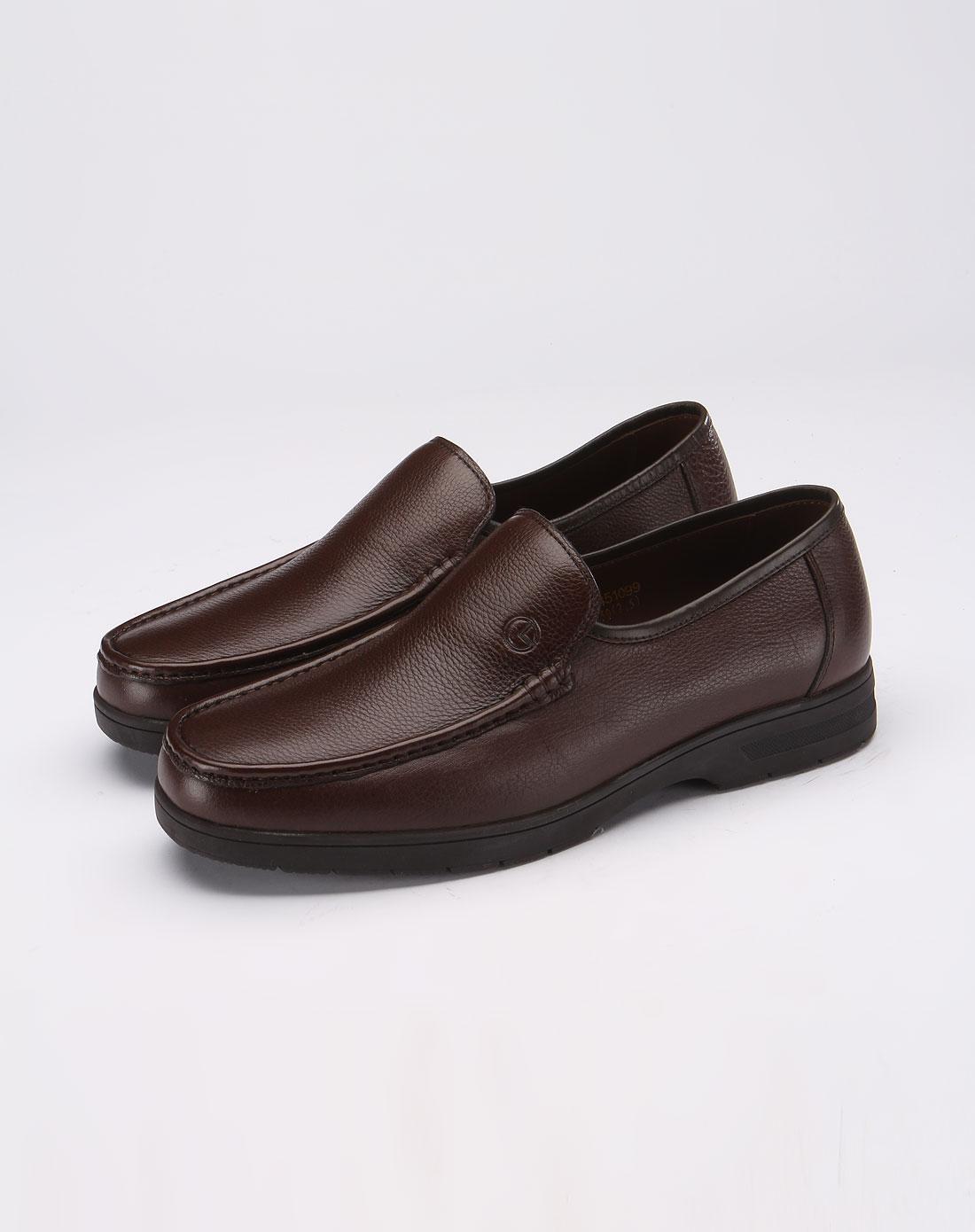 金利来goldlion棕色商务休闲皮鞋 ...