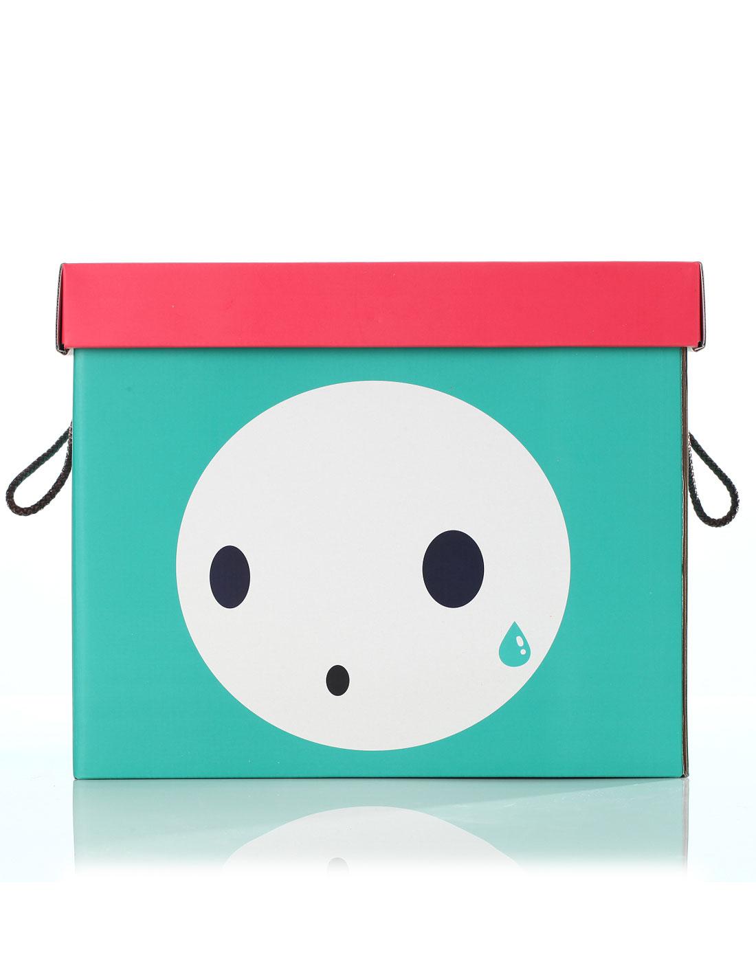 可爱表情系列收纳箱-绿色