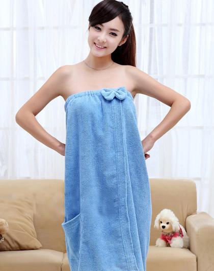可爱公主风浴裙(蓝)