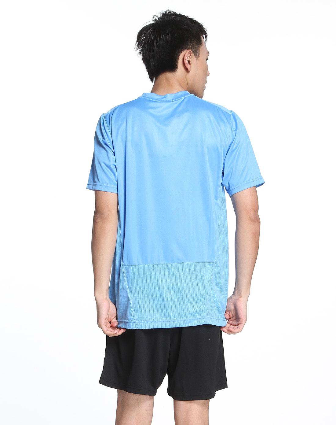 耐克nike男款绣logo简约天蓝色短袖t恤329362-412