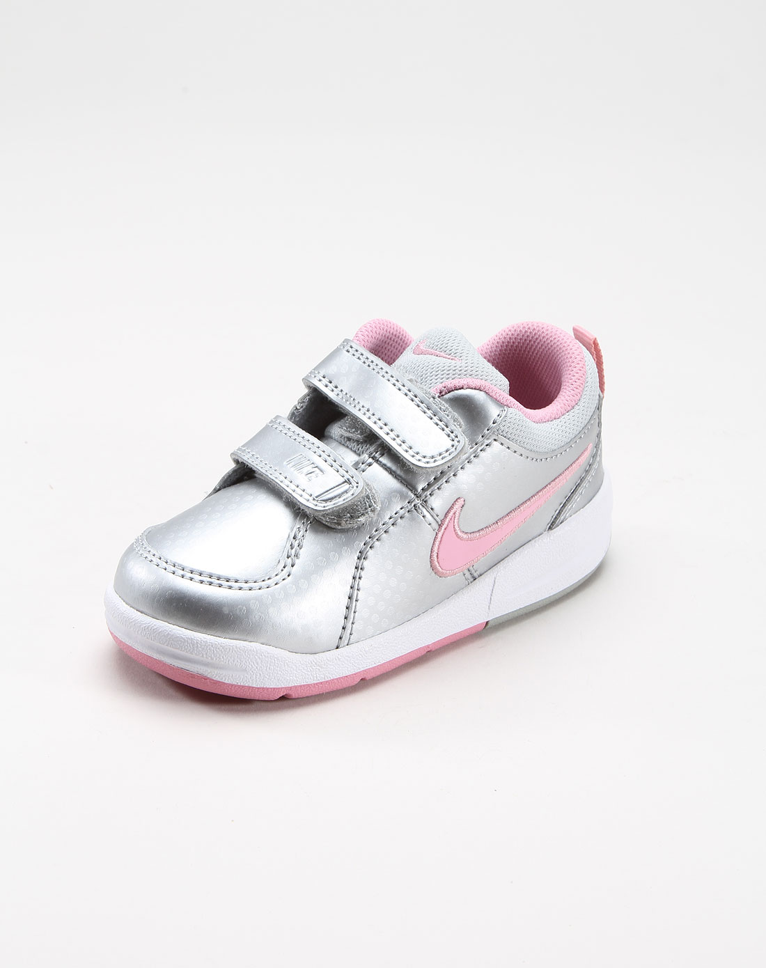 耐克nike-女鞋专场-(资料齐不上线)女童银色魔术贴运动鞋