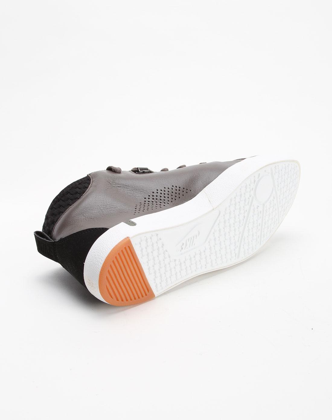 男款斑点透气个性白底深灰色高帮文化鞋