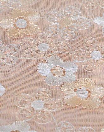 手工刺绣双色蕾丝花边桌布