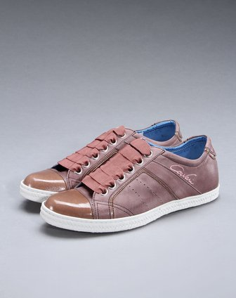 tens名鞋专场女款质感真皮休闲鞋棕/粉红色c1aco