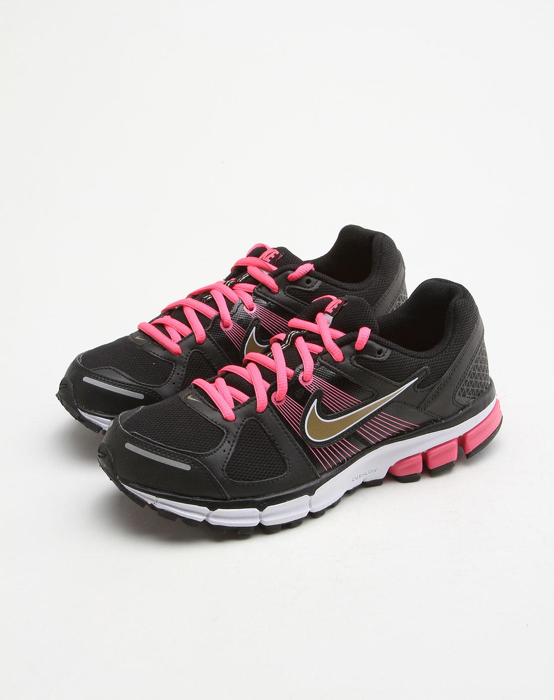 耐克nike-童装儿童黑色网面舒适透气运动鞋443993