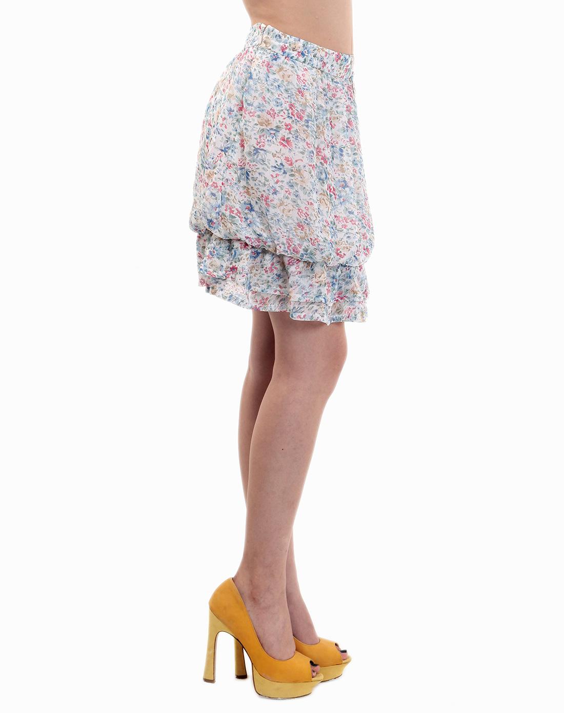 彩色灯笼摆短裙
