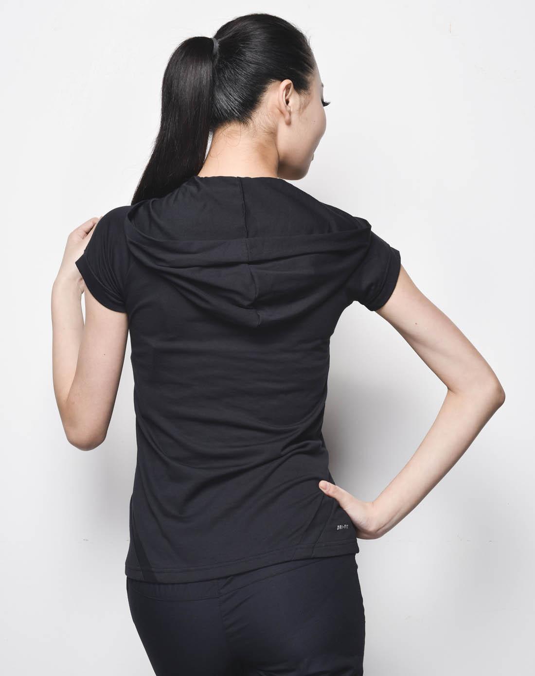 耐克nike女子黑色短袖t恤381398-010