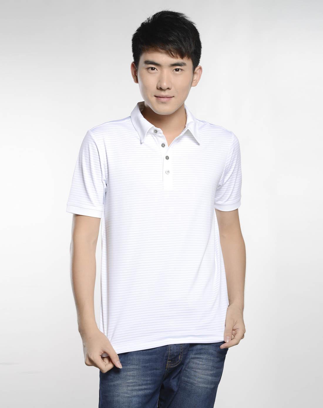 阿迪达斯adidas男女装混合专场-男子白色短袖polo衫