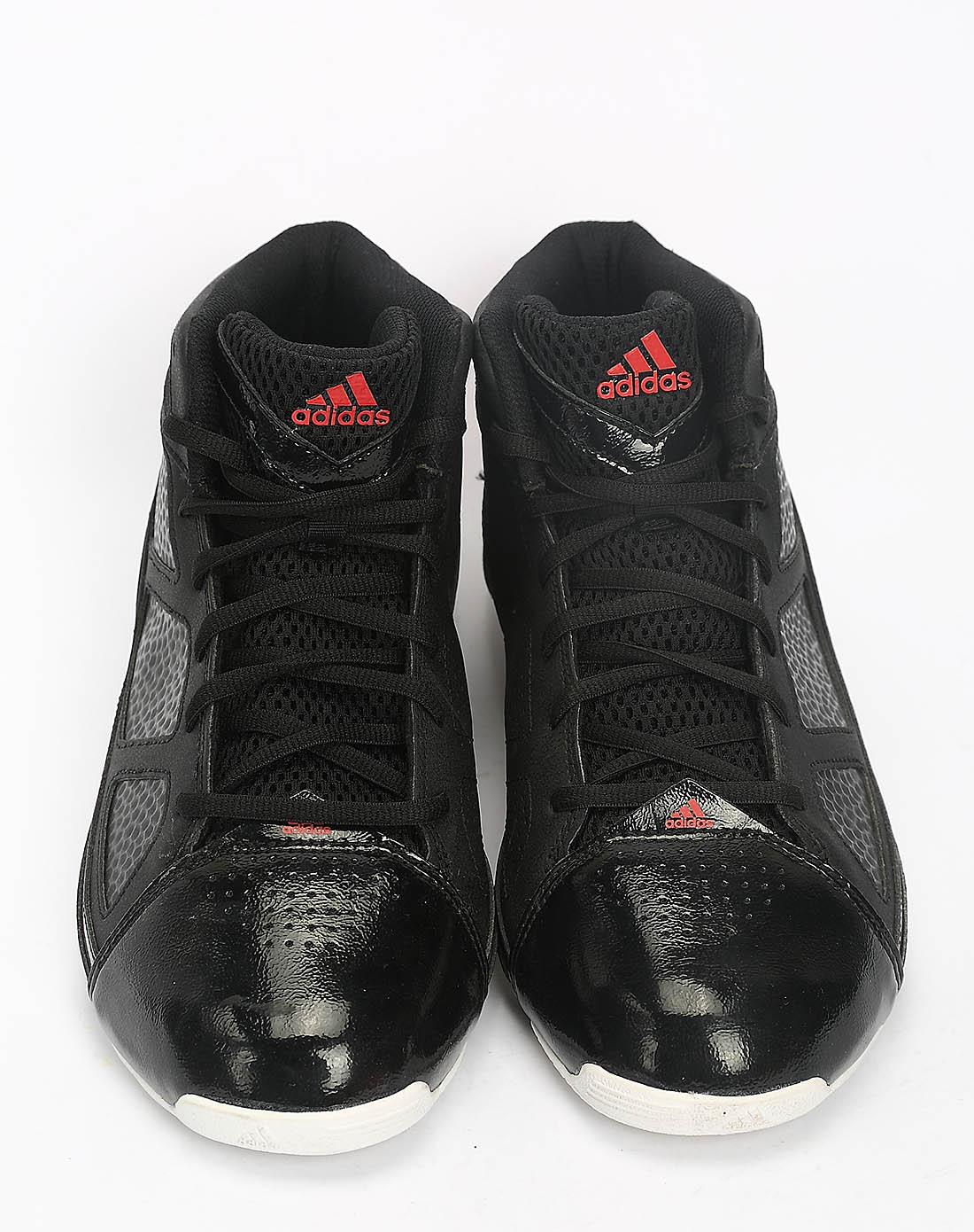 阿迪达斯adidas男女鞋男子黑色篮球鞋g20930