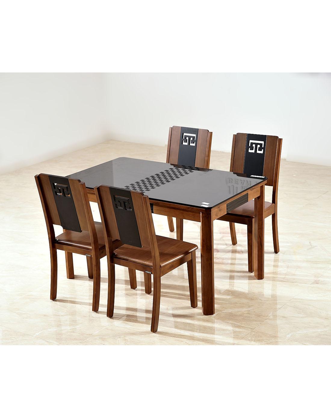 homes家具实木中式餐桌椅(一桌四椅)xhd