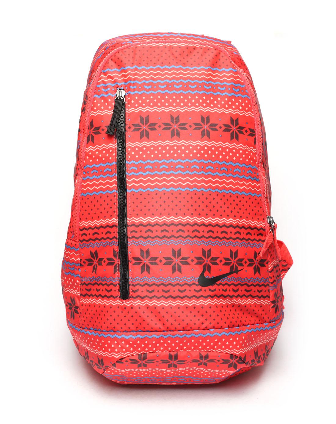 耐克nike女子红色背包ba4576-669