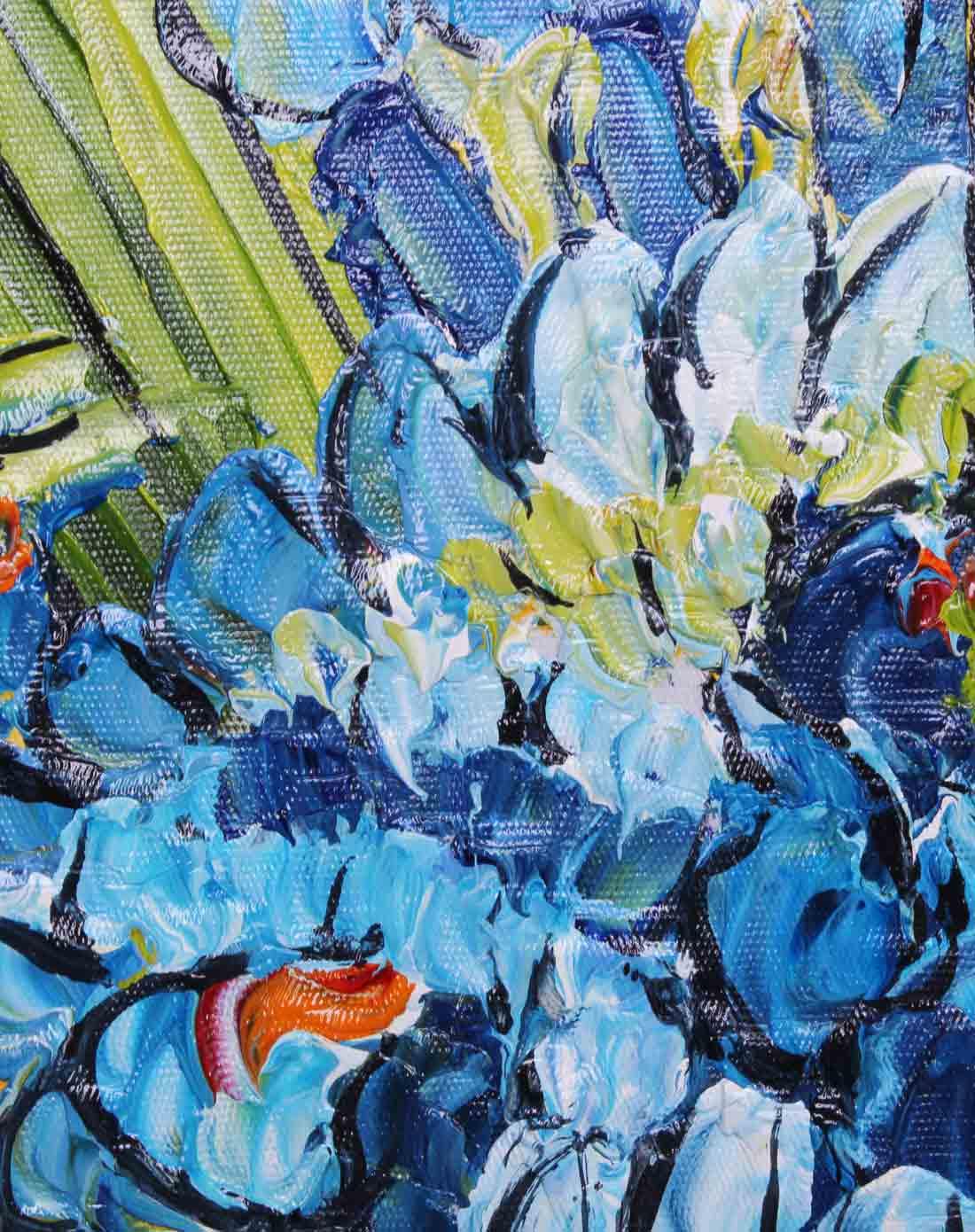 手绘油画-梵高鸢尾花