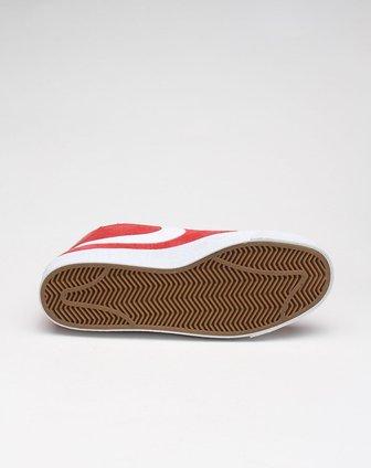 耐克nike 男子绑带白底红色滑板运动鞋