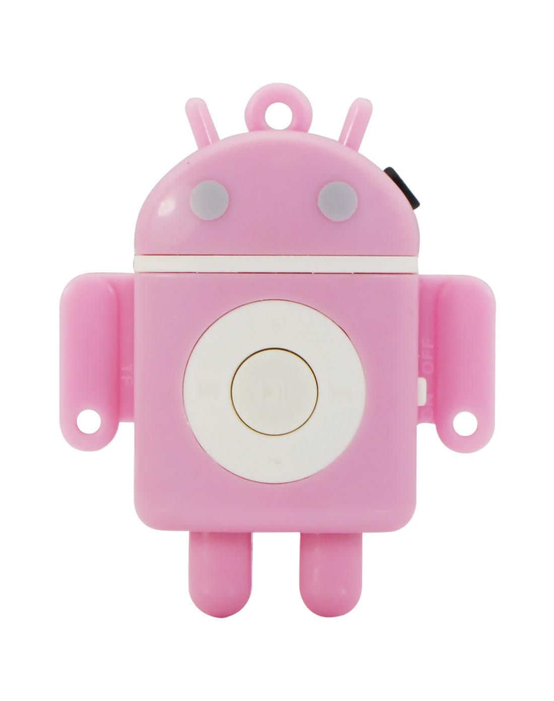 可爱机器人随身听mp3(粉红色)