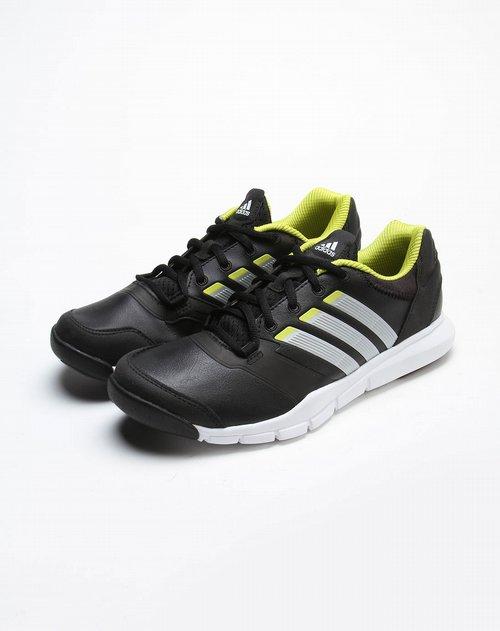 阿迪达斯 男款黑 银金属色轻便综合训练鞋