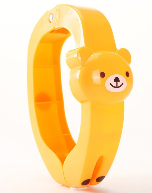 橙黄色小熊动物造型大被夹2入