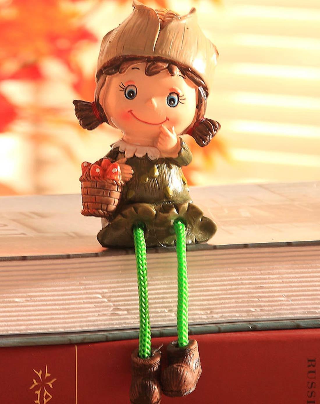 卡通树脂家居工艺摆件吊脚娃娃-玉米娃娃