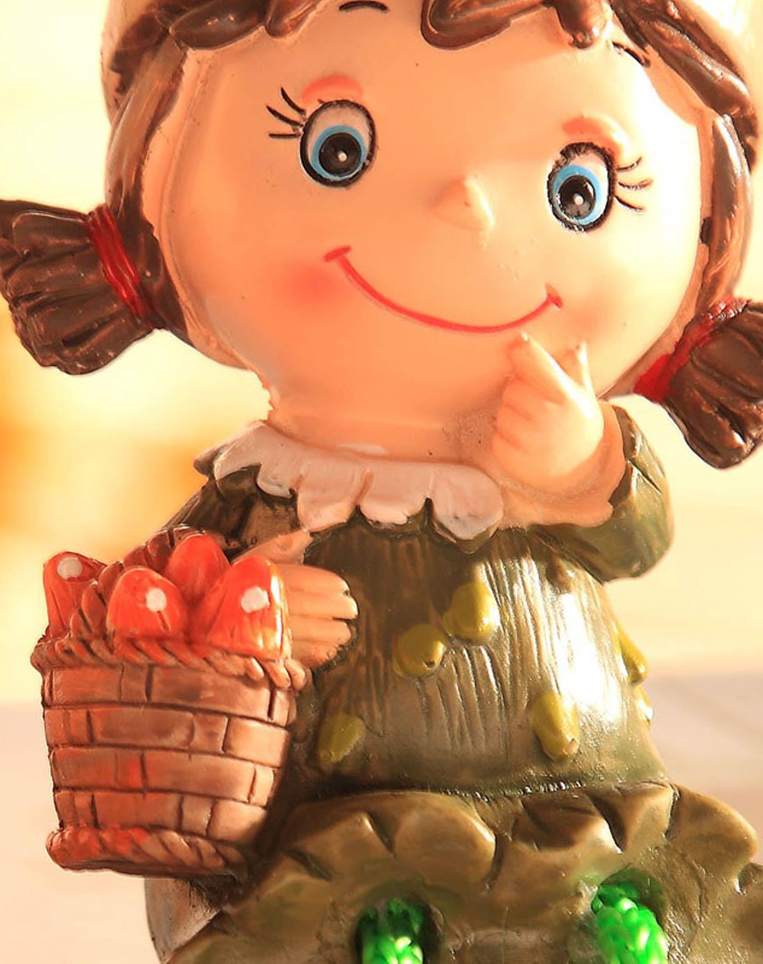卡通树脂家居工艺摆件吊脚娃娃-玉米娃娃图片