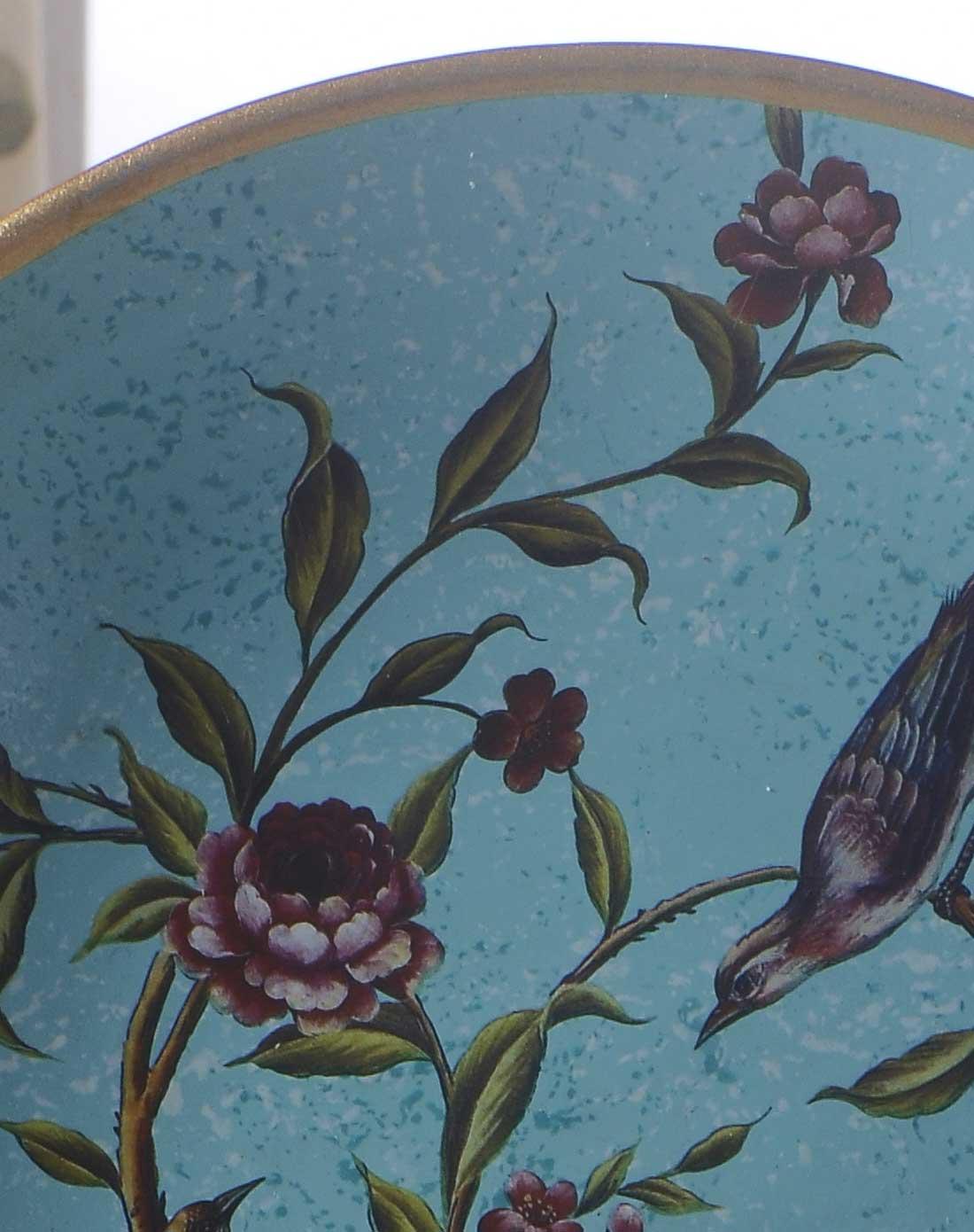 鸟语花香手绘装饰盘
