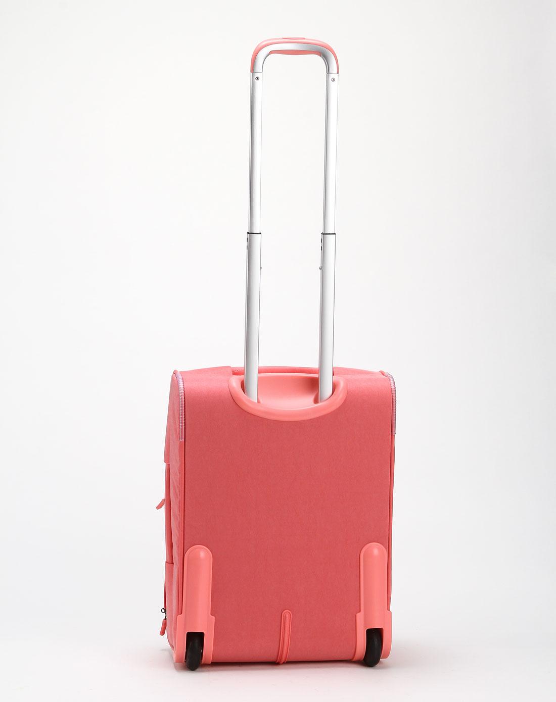 女款时尚粉红色拉杆箱18寸