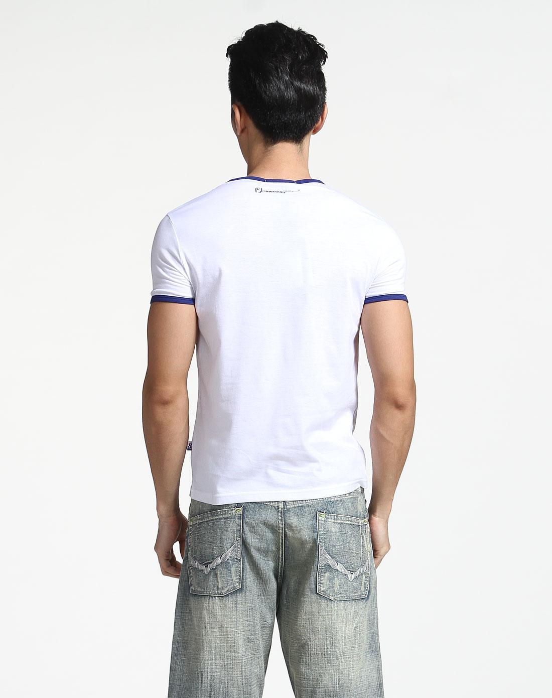 人物头像白色短袖t恤