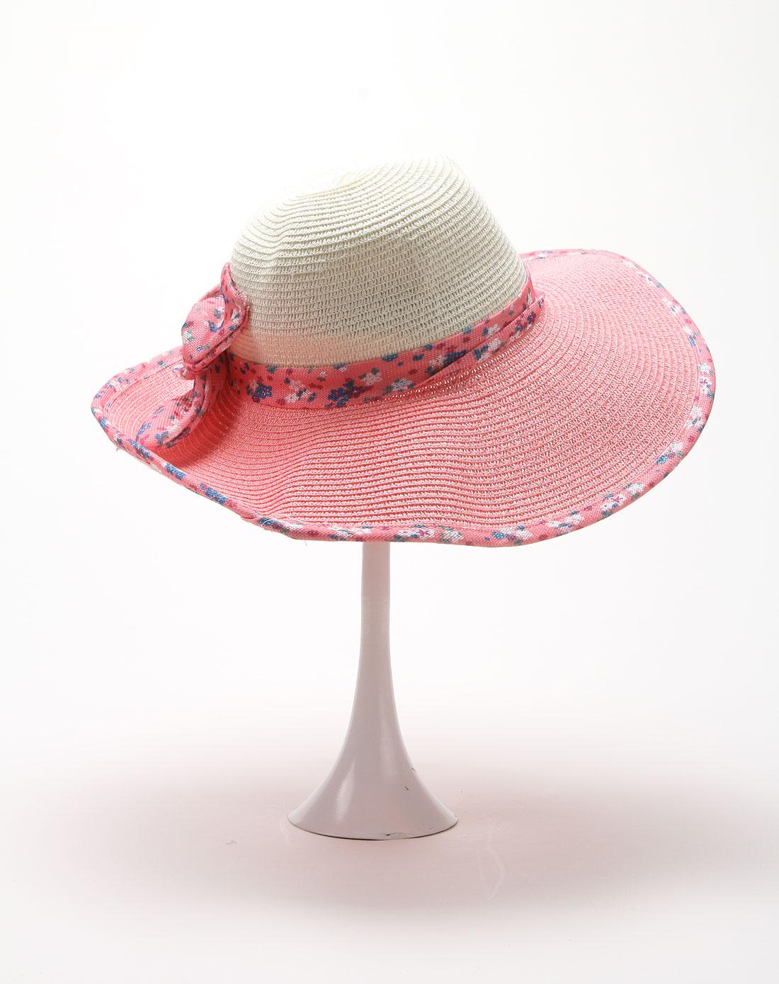 百搭时尚休闲花纹图案粉红色帽子
