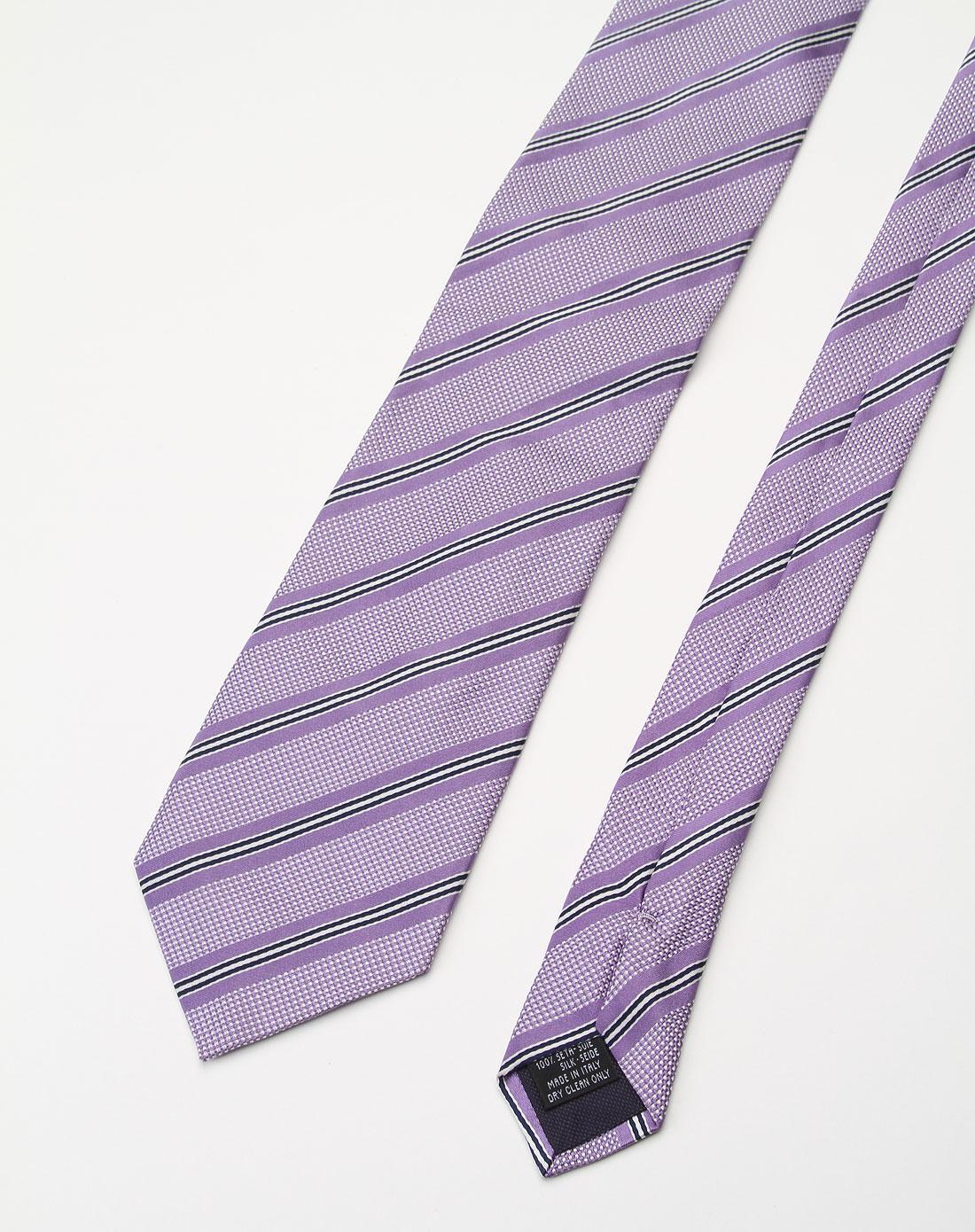 紫色时尚条纹领带