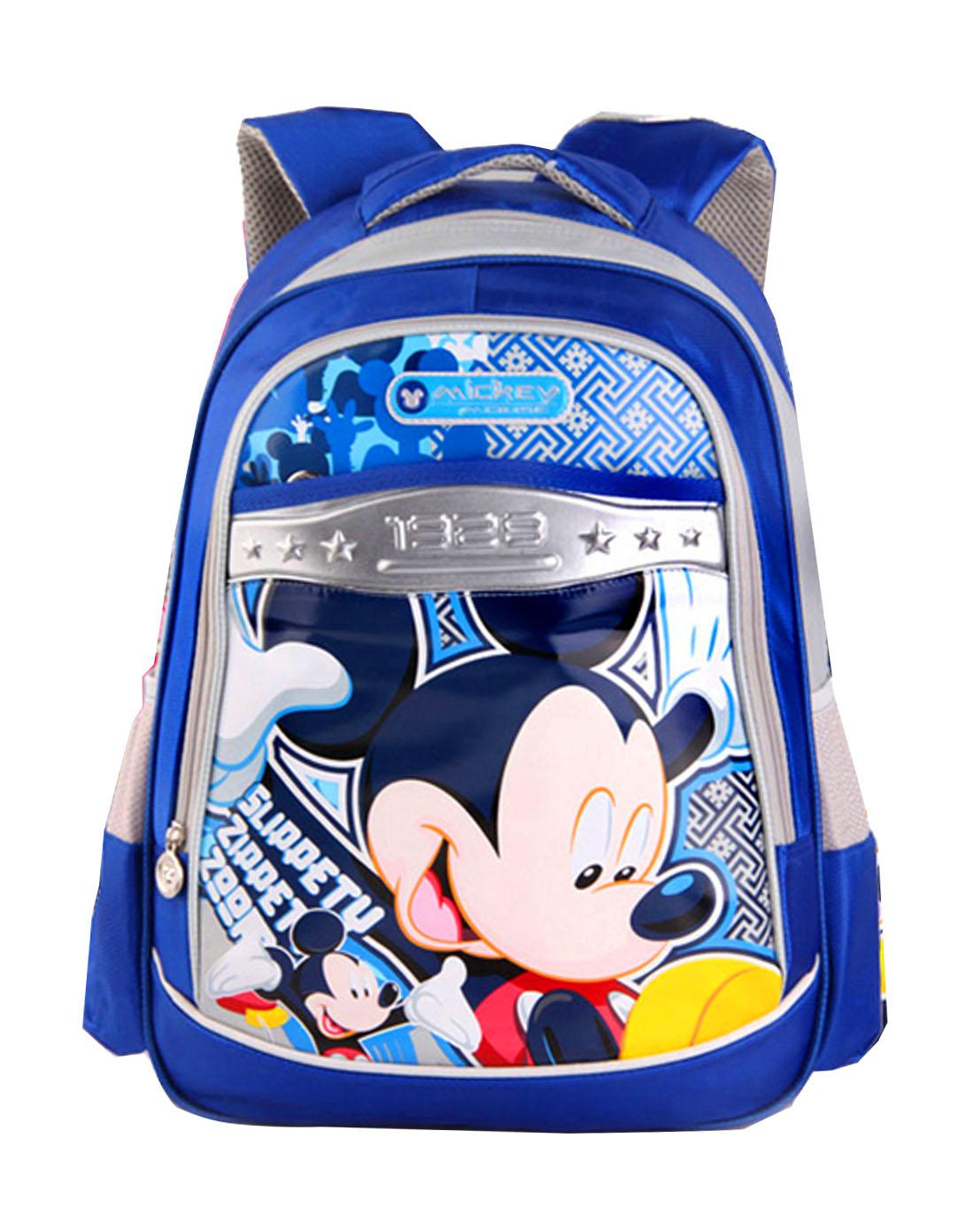 迪士尼disney儿童用品专场中性宝蓝色米奇卡通双肩包