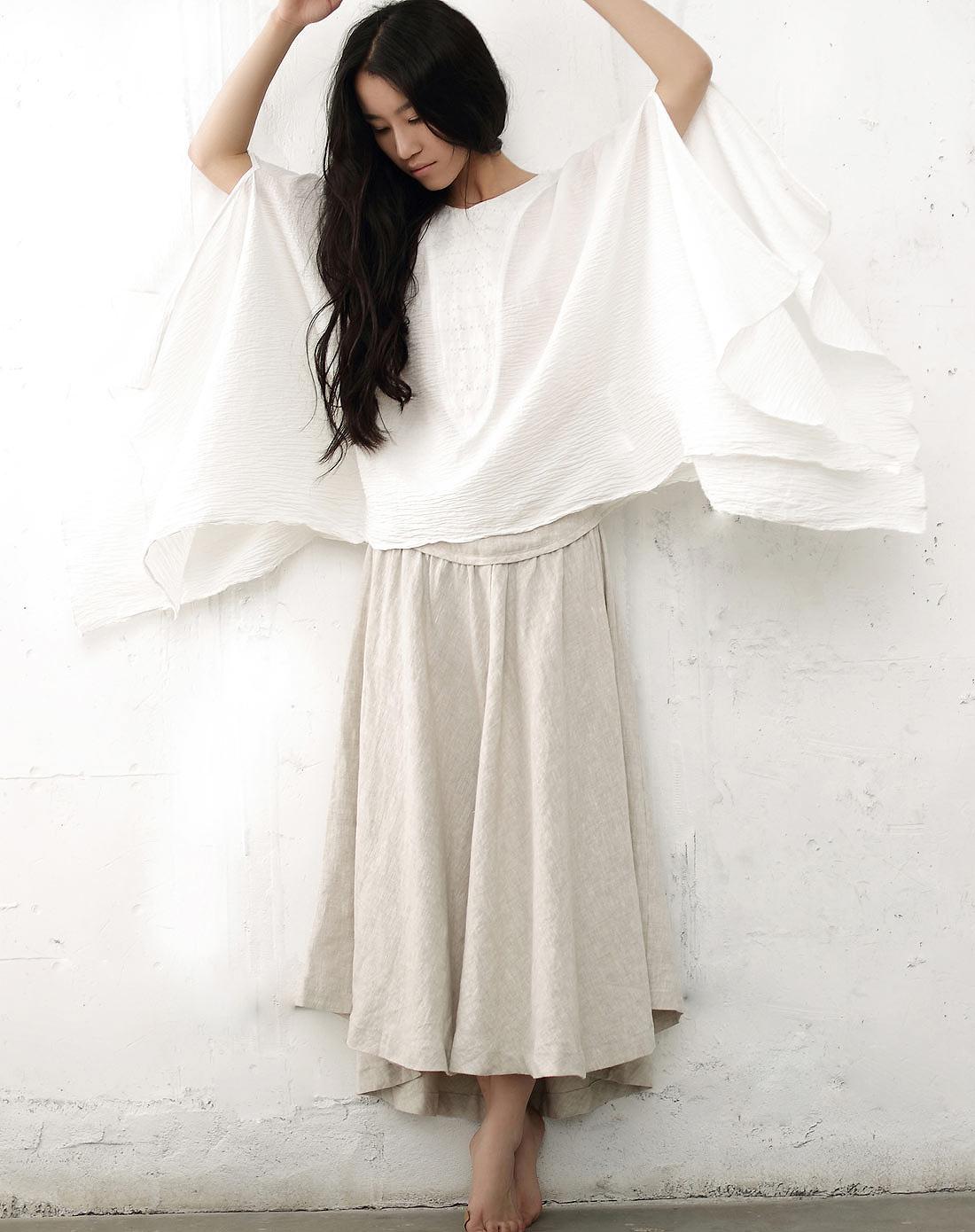 素缕souline白色长袖衬衫sl27980076图片