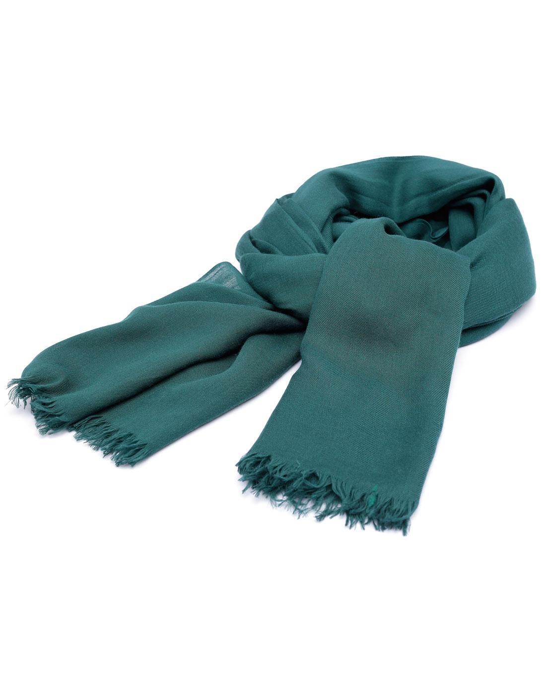 丽丽lily墨绿色围巾112310e92838