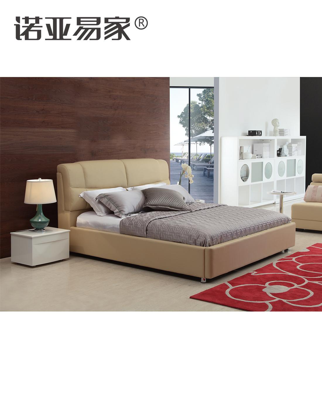 诺亚易家家具 > 卡丽斯 现代主义简约风尚真皮软床