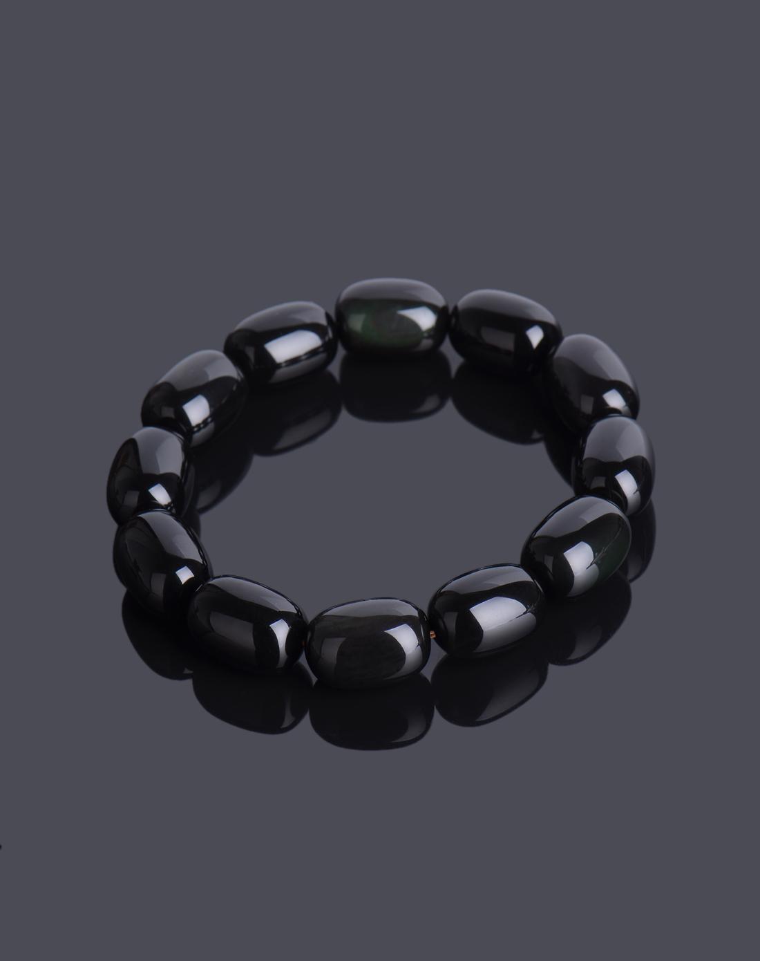 黑曜石桶珠手链x93941313991