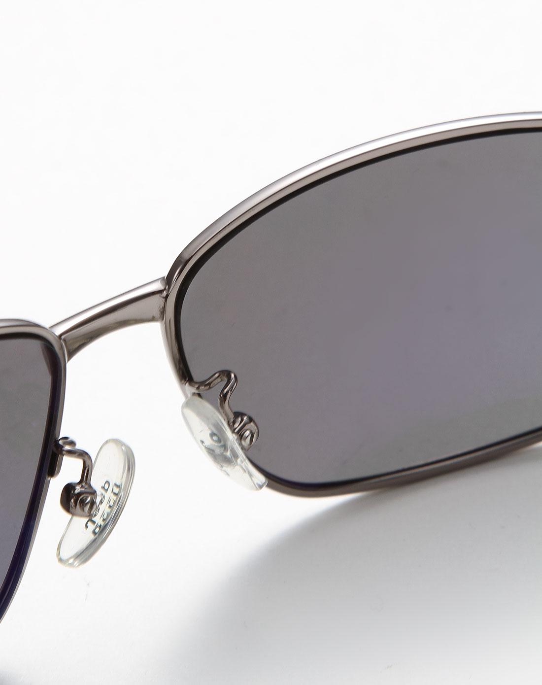 男款成熟大气金属全框太阳眼镜银/黑色