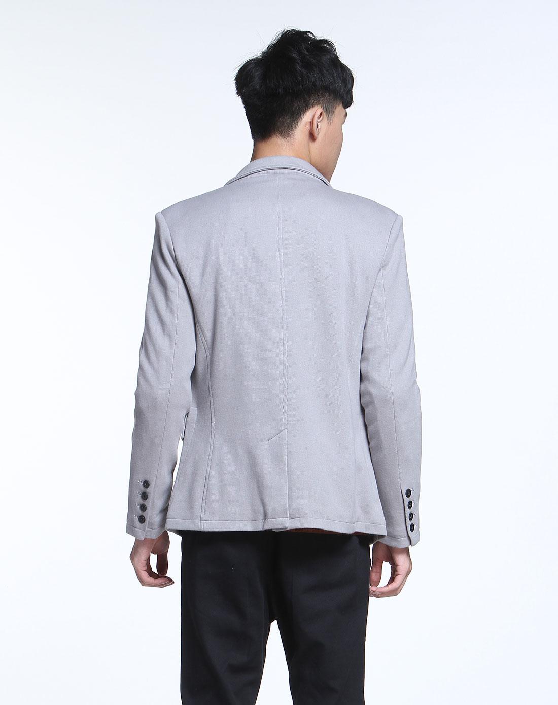 森马晨灰色长袖休闲西装11111312101-2150图片