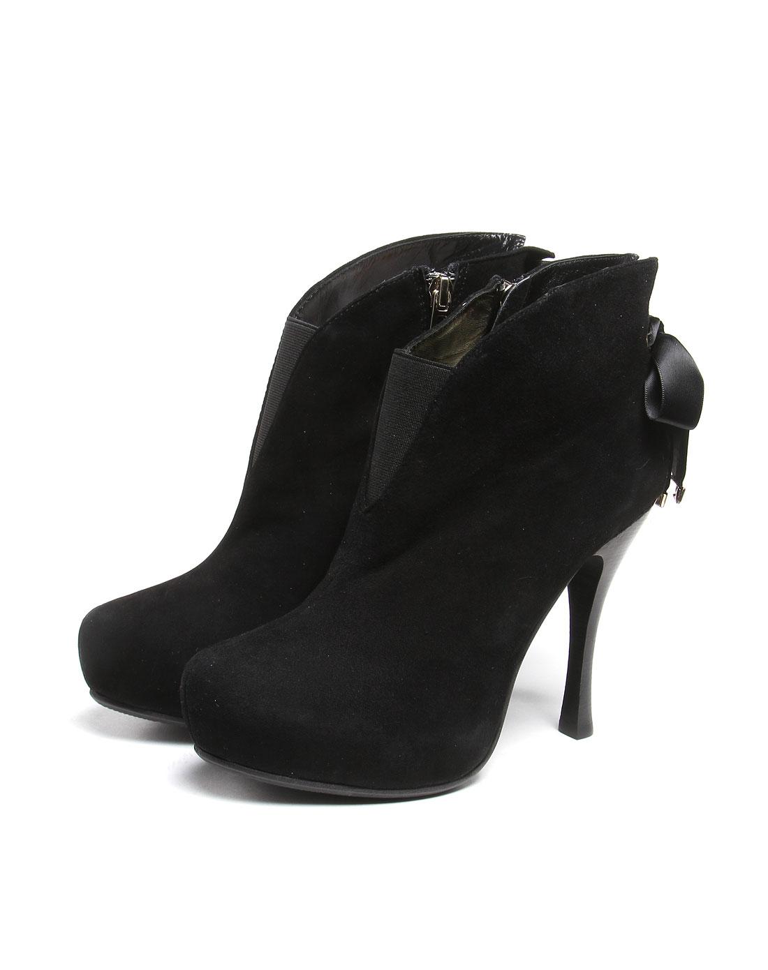 歌力思黑色高贵时尚高跟鞋