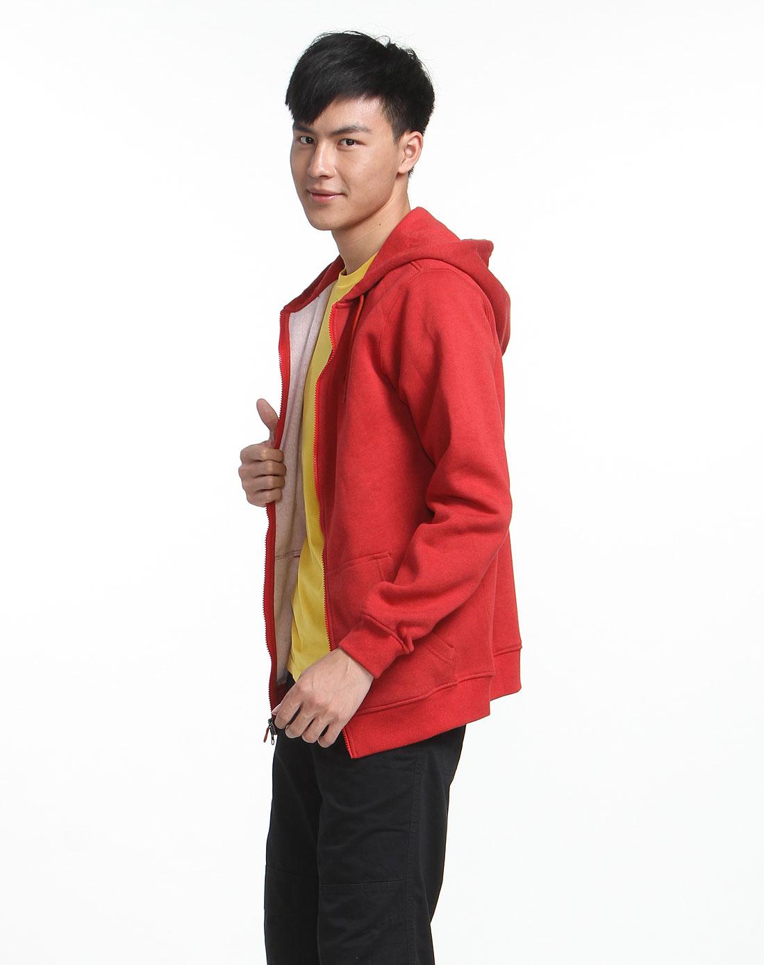 耐克nike运动休闲连帽红色长袖卫衣453140-682