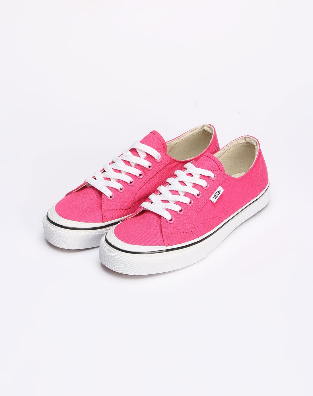 范斯vans男女女款桃红色休闲帆布鞋vn-0l9b4m8