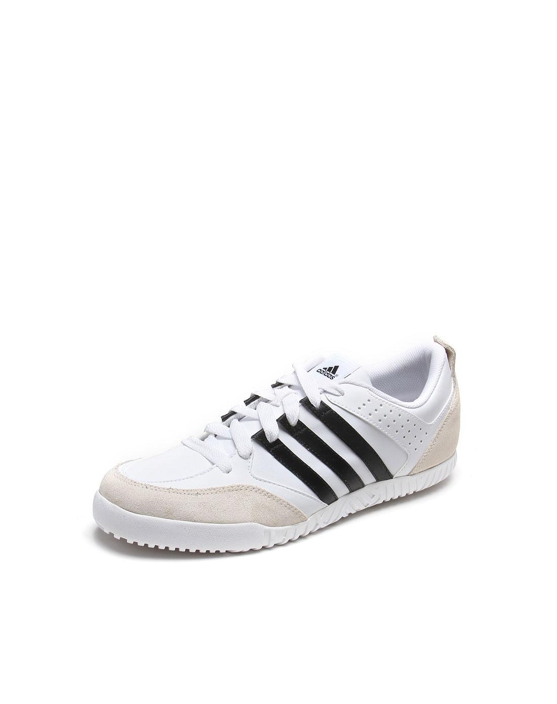 男款白/黑色簡便室內運動鞋