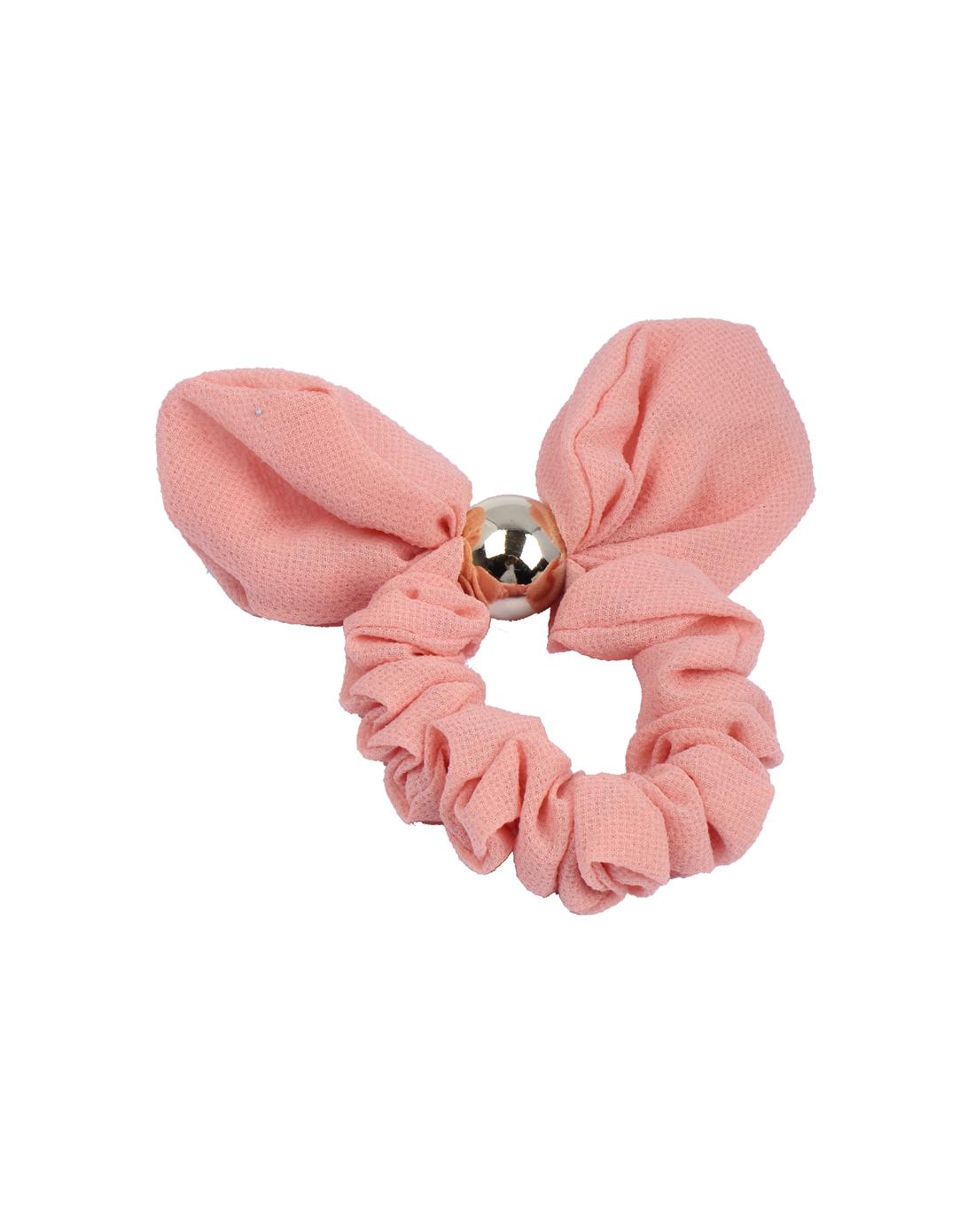 粉色可爱蝴蝶结发圈