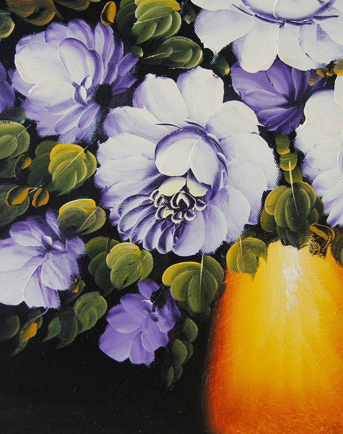 宜生活 《紫玫瑰》纯手绘油画