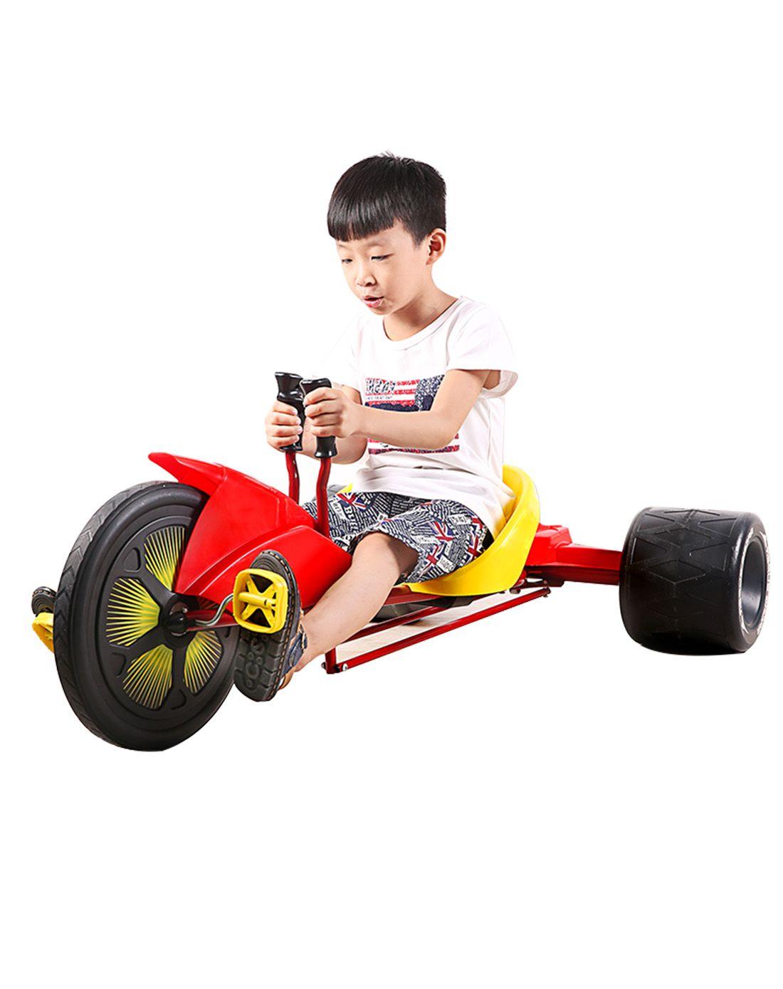 纽奇 儿童三轮漂移车 脚踏卡丁车