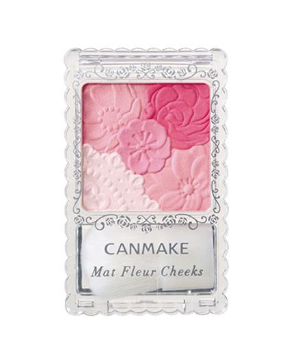 Canmake 花瓣雕刻5色腮红 02 桃粉色 6g 哑光款 花瓣腮红