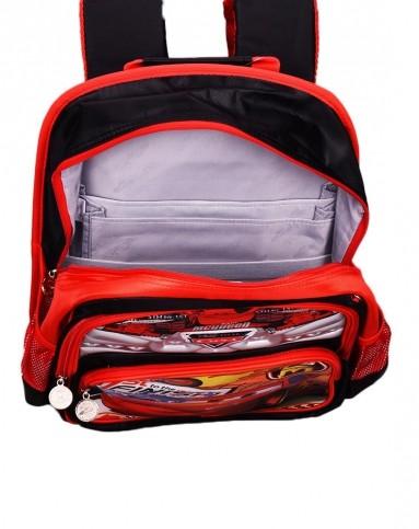 迪士尼男童黑红色汽车卡通书包