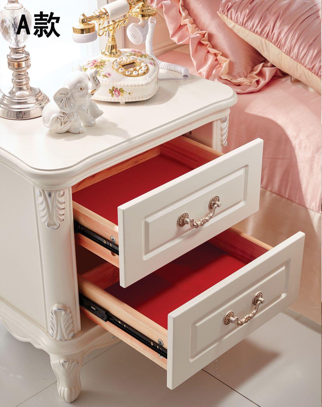 欧式床头柜 储物柜 床边柜(三款选择)