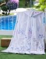 红豆家纺专场150*200cm柔软磨毛夏凉被芯漫春(蓝)A6B165B01